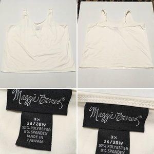 Maggie Barnes tank top slip blouse SZ 3X 26/28W